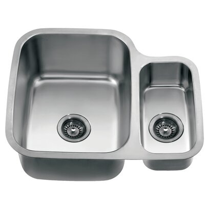 24.75 x 20.88 Under Mount Double Bowl Kitchen Sink