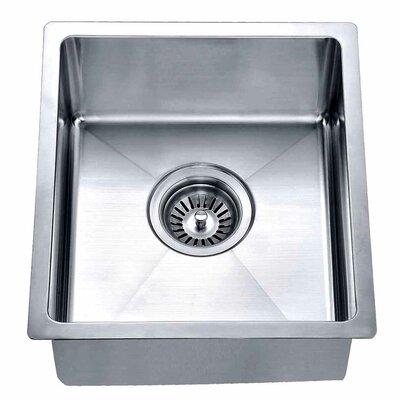 14.88 x 13.31 Under Mount Single Bowl Kitchen Sink
