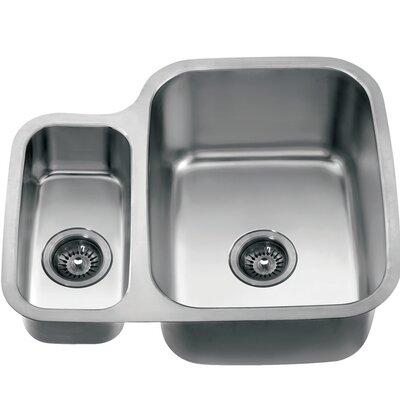 24.75 x 20.88 Under Mount Double Bowl Kitchen Sink