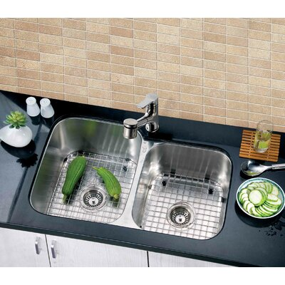 31.88 x 20.88 Under Mount Double Bowl Kitchen Sink