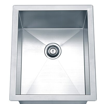 17 x 14 Under Mount Square Single Bowl Kitchen Sink