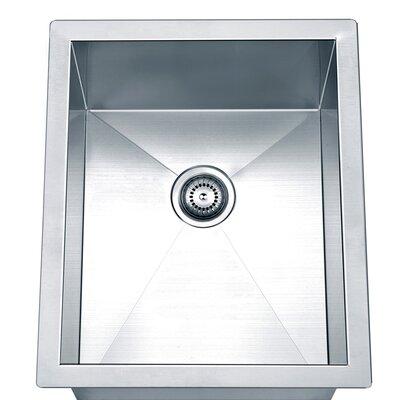 17 x 14 Under Mount Square Single Bowl Kitchen Sink