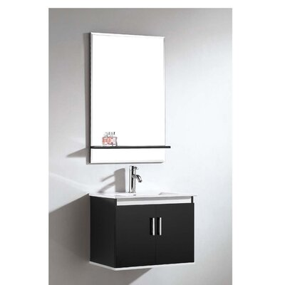 European 24 Single Vanity Set with Mirror