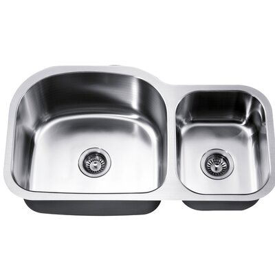 35 x 20 Under Mount Double Bowl Kitchen Sink