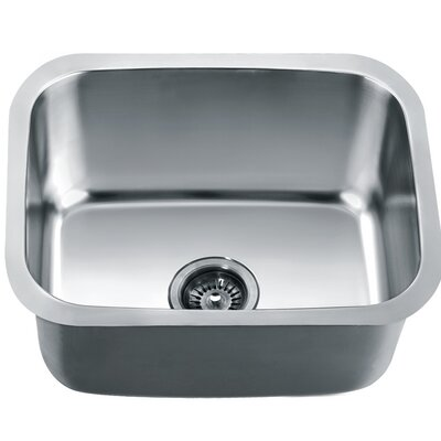 20.88 x 16.88 Under Mount Single Bowl Kitchen Sink