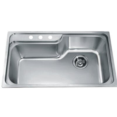 34.5 x 19.88 Top Mount Single Bowl Kitchen Sink