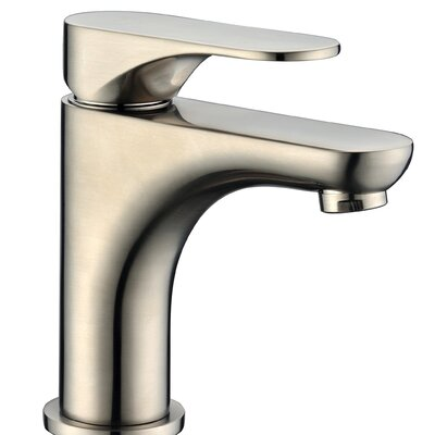 Single Handle Deck Mounted Faucet Finish: Brushed Nickel