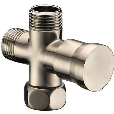 Push Pull Shower Arm Diverter Finish: Brushed Nickel