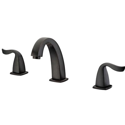 Double Handle Deck Mounted Faucet Finish: Dark Brown