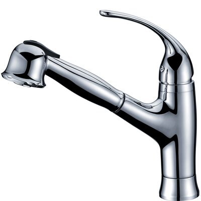 Single Handle Deck Mount Kitchen Faucet with Pull-Out Spray Finish: Chrome