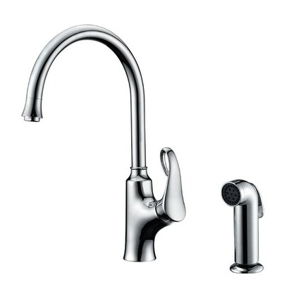 Single Handle Kitchen Faucet with Side Spray Finish: Chrome