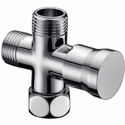Push Pull Shower Arm Diverter Finish: Chrome