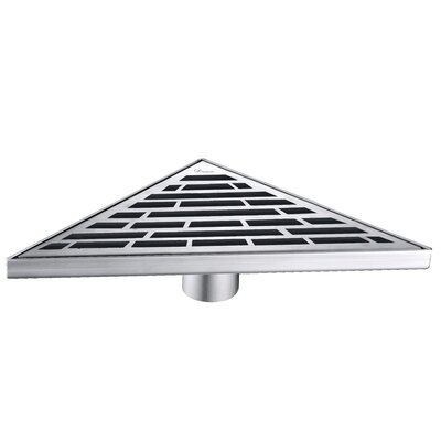 Amazon River  Grid Shower Drain with Overflow
