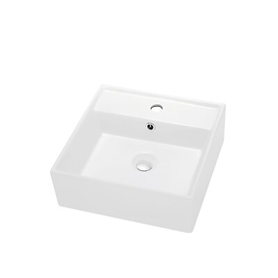 Ceramic Rectangular Vessel�Bathroom�Sink with Overflow