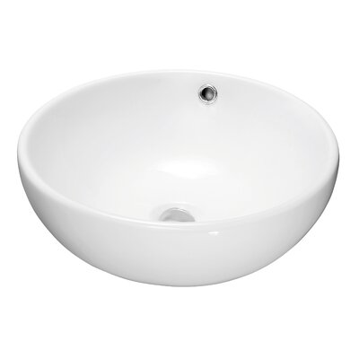 Ceramic Circular Vessel�Bathroom�Sink with Overflow