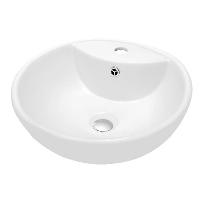 Ceramic Circularr Vessel�Bathroom�Sink with Overflow