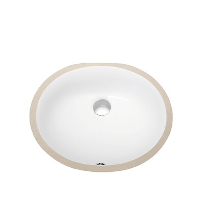 Ceramic Oval Undermount Bathroom Sink with Overflow