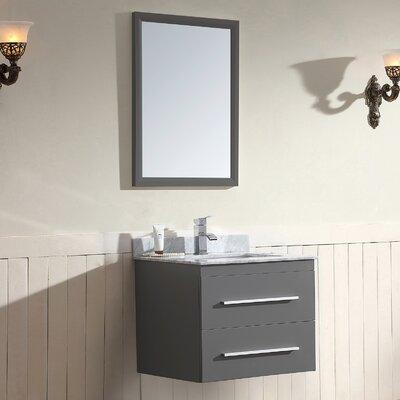 Gloria Series 25 Single Wall Mount Bathroom Vanity Set with Mirror