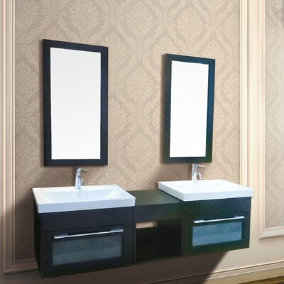 Rome 61.5 Double Mount Vanity with Mirror