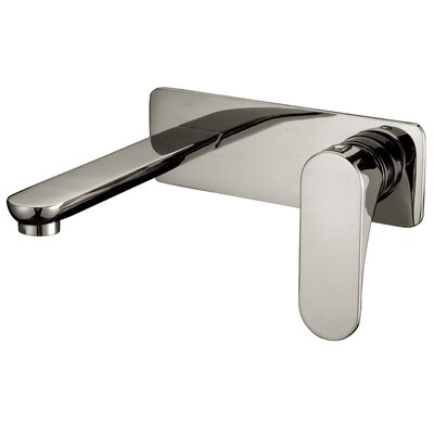 Wall mounted Single Handle Bathroom Faucet Finish: Brushed Nickel