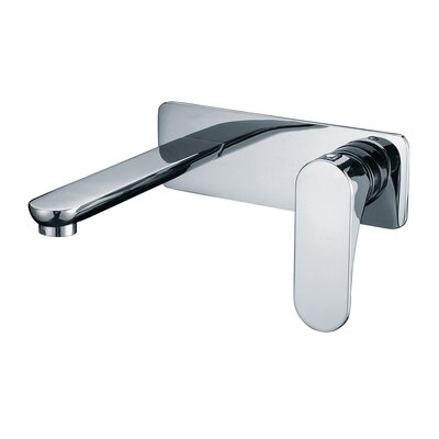 Wall mounted Single Handle Bathroom Faucet Finish: Chrome