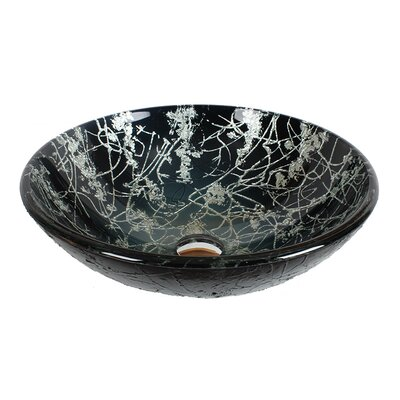 Tempered Glass Circular Vessel Bathroom Sink
