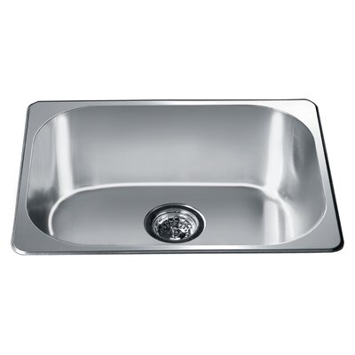 22 x 17.75 Top Mount Single Bowl Kitchen Sink