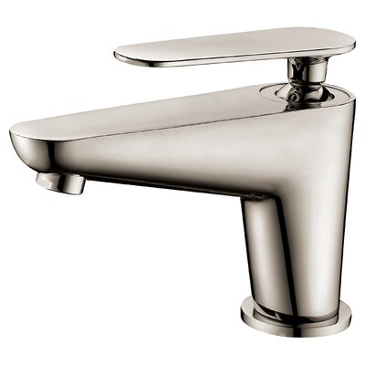 Single Lever Handle Bathroom Faucet with Pull-Up Drain Finish: Brushed Nickel