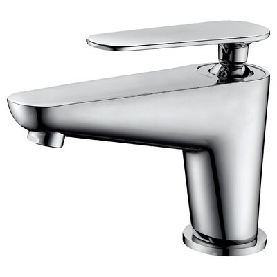 Single Lever Handle Bathroom Faucet with Pull-Up Drain Finish: Chrome