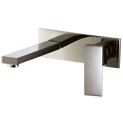 Wall Mounted Single Lever Bathroom Faucet Finish: Brushed Nickel