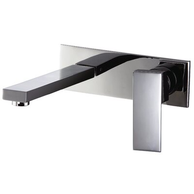 Wall Mounted Single Lever Bathroom Faucet Finish: Chrome