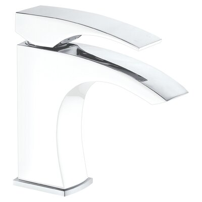 Single Handle Deck Mounted Faucet Finish: Chrome & White