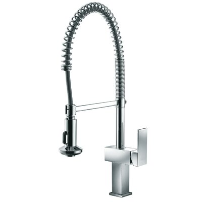 Single Handle Pull Out Standard Kitchen Faucet Finish: Chrome
