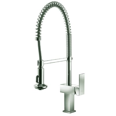 Single Handle Pull Out Standard Kitchen Faucet Finish: Brushed Nickel