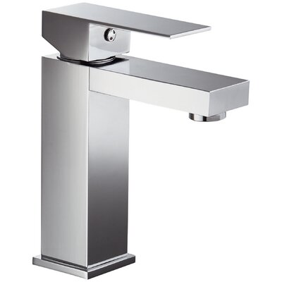 Single Hole Lever Handle Bathroom Faucet Finish: Chrome