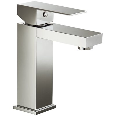 Single Hole Lever Handle Bathroom Faucet Finish: Brushed Nickel