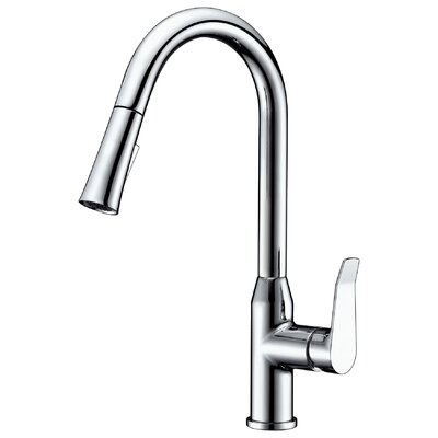 Dawn Single Handle Pull Out Kitchen Faucet Finish: Chrome