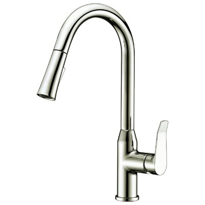 Dawn Single Handle Pull Out Kitchen Faucet Finish: Brushed Nickel