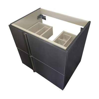 Onix Series 24 Single Bathroom Vanity Base Base Finish: Anthracite