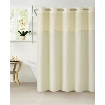 Bahamas Polyester Shower Curtain Color: Vanilla