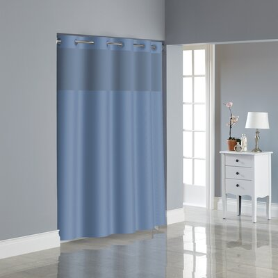 Dobby Texture Shower Curtain Color: Midnight Blue