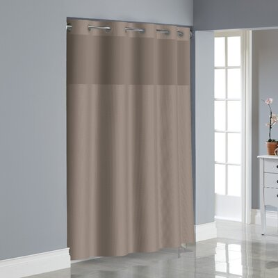 Dobby Texture Shower Curtain Color: Desert Taupe