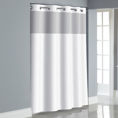 Herringbone Shower Curtain Color: Bright White
