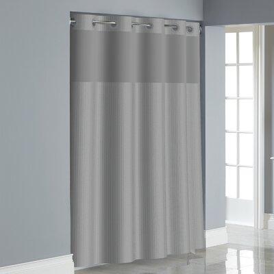 Herringbone Shower Curtain Color: Drizzle