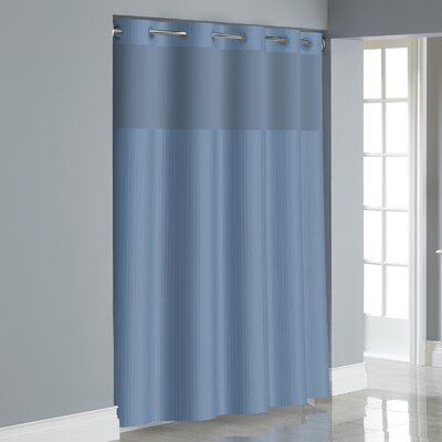 Herringbone Shower Curtain Color: Midnight Blue