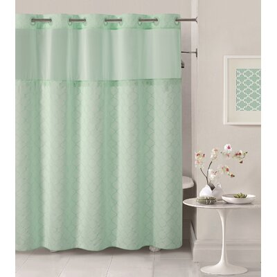 Mosaic Shower Curtain Color: Aqua Blue