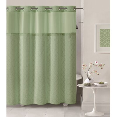 Mosaic Shower Curtain Color: Sage