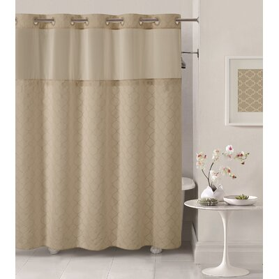 Mosaic Shower Curtain Color: Taupe
