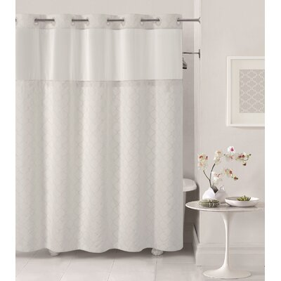 Mosaic Shower Curtain Color: White