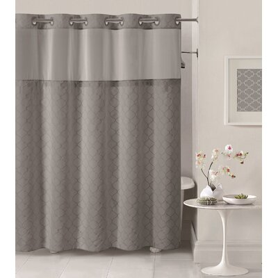 Mosaic Shower Curtain Color: Dark Gray